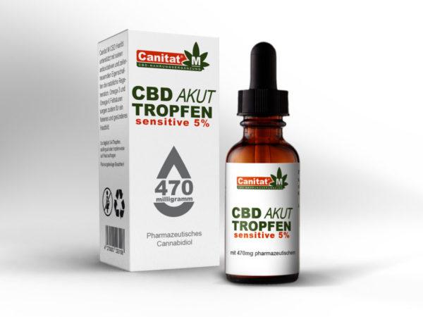 25 x Canitat M CBD Akut Tropfen sensitive 5%