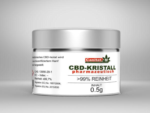 25 x Canitat M CBD Kristall pharmazeutisch >99,5% | 500mg