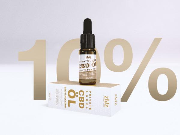 Private Label CBD Öl Breitspektrum 10%